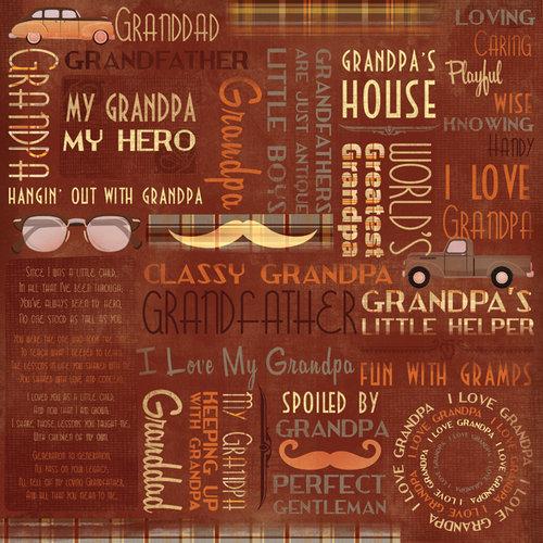 Karen Foster Design - Grandpa Collection - 12 x 12 Paper - Classic Grandpa Collage