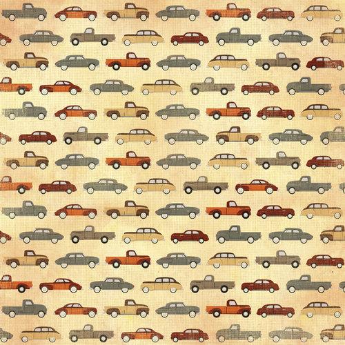 Karen Foster Design - Grandpa Collection - 12 x 12 Paper - Grandpa's Automobiles