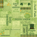 Karen Foster Design - St. Patrick's Day Collection - 12 x 12 Paper - Day Of Green Collage
