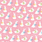 Karen Foster Design - Easter Collection - 12 x 12 Paper - Funny Bunny