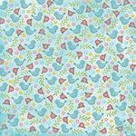 Karen Foster Design - Spring Collection - 12 x 12 Paper - Spring Birds and Flowers