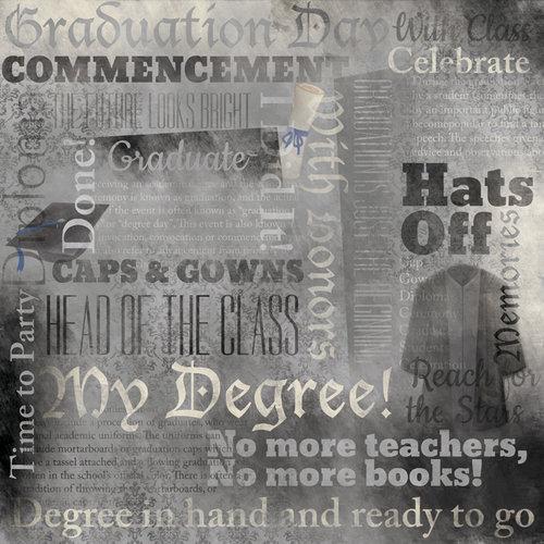 Karen Foster Design - Graduation Collection - 12 x 12 Paper - Graduation Day Collage