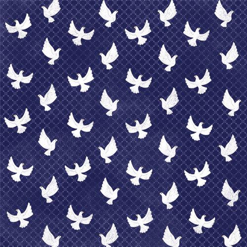 Karen Foster Design - Baptism Collection -12 x 12 Paper - Peaceful Doves