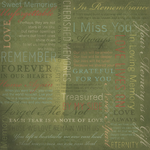 Karen Foster Design - In Memory Collection - 12 x 12 Paper - In Remembrance Collage