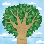 Karen Foster Design - Kid's Ancestry Collection - 12 x 12 Paper - My Family Tree