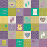 Karen Foster Design - Maternity Collection - 12 x 12 Paper - Baby Squares