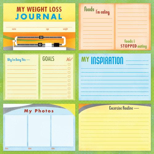 Karen Foster Design - Weight Loss Collection - 12 x 12 Paper - Weight Loss Journal
