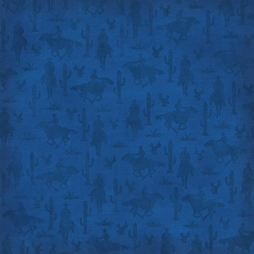 Karen Foster Design - Cowboy Horse Collection - 12 x 12 Paper - Horse and Rider