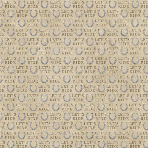 Karen Foster Design - Equestrian Collection - 12 x 12 Paper - Let's Ride