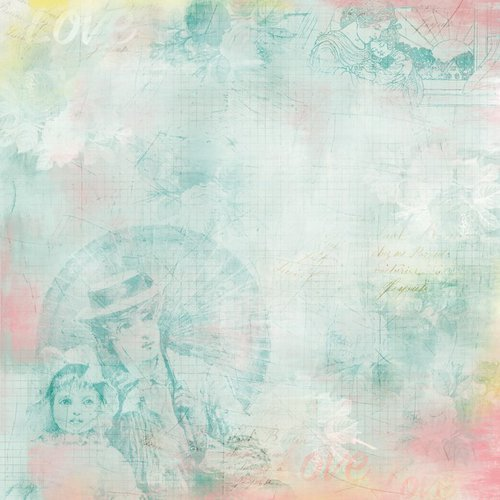 Karen Foster Design - Mom Collection - 12 x 12 Paper - Love My Mom