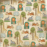 Karen Foster Design - Zoo Collection - 12 x 12 Paper - What A Zoo