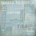 Karen Foster Design - Fishing Collection - 12 x 12 Paper - Hooked On Fishing Collage