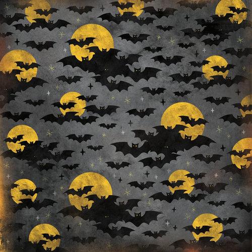 Karen Foster Design - Halloween Collection - 12 x 12 Paper - Halloween Bats