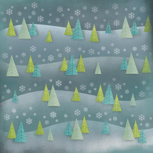 Karen Foster Design - Winter Collection - 12 x 12 Paper - Winter Trees