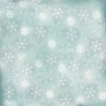 Karen Foster Design - Winter Collection - 12 x 12 Paper - Falling Snowflakes