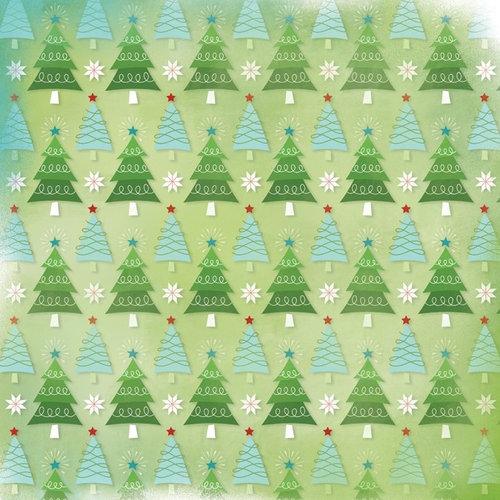 Karen Foster Design - Christmas Collection - 12 x 12 Paper - Holiday Trees