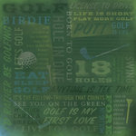 Karen Foster Design - Golf Collection - 12 x 12 Paper - Golf Is Life Collage