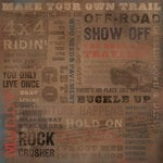 Karen Foster Design - Off Road Collection - 12 x 12 Paper - Make Your Own Trail Collage