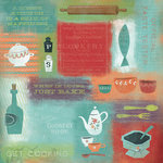 Karen Foster Design - 12 x 12 Paper - Let's Get Cooking