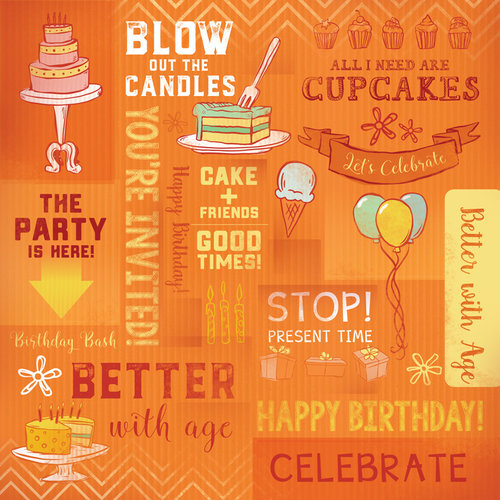 Karen Foster Design - Birthday Collection - 12 x 12 Paper - Blow Out The Candle Collage