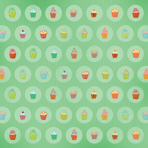 Karen Foster Design - Birthday Collection - 12 x 12 Paper - Cozy Cupcakes