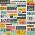 Karen Foster Design - Travel Collection - 12 x 12 Paper - Pack You Bags Collage