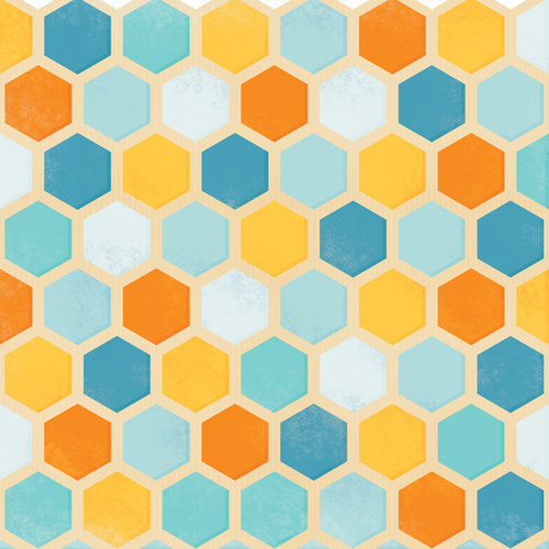 Karen Foster Design - Dog Collection - 12 x 12 Paper - Playful Tiles