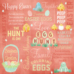 Karen Foster Design - Easter Collection - 12 x 12 Paper - Bunnies 'n' Baskets