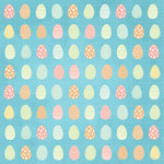 Karen Foster Design - Easter Collection - 12 x 12 Paper - Eggs On Parade