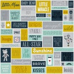 Karen Foster Design - Baby Boy Collection - 12 x 12 Paper - Little Man Collage