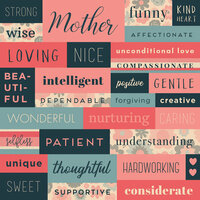 Karen Foster Design - Mother Collection - 12 x 12 Paper - Mother is Collage