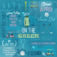 Karen Foster Design - Golf Collection - 12 x 12 Paper - Almost a Pro Collage
