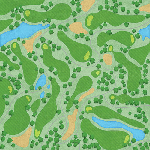 Karen Foster Design - Golf Collection - 12 x 12 Paper - The Links