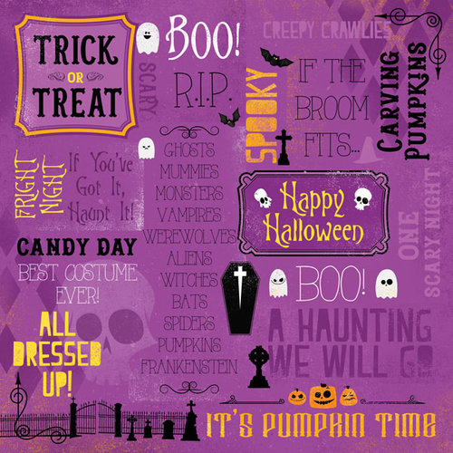 Karen Foster Design - Halloween Collection - 12 x 12 Paper - One Spooky Night Collage