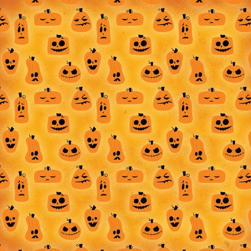 Karen Foster Design - Halloween Collection - 12 x 12 Paper - Jumbled Jack O Lantern