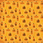 Karen Foster Design - Halloween Collection - 12 x 12 Paper - Jumbled Jack O Lantern