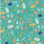 Karen Foster Design - Fall Collection - 12 x 12 Paper - School Doodles