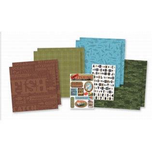 Karen Foster Design - Fishing Collection - Fishing Scrapbook Kit