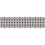 Karen Foster Design - Pavilio Lace Tape - Leaf - Black - 70 mm