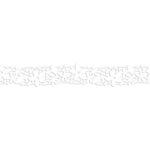 Karen Foster Design - Pavilio Lace Tape - Botanical Ornament - White - 47 mm