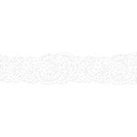Karen Foster Design - Pavilio Lace Tape - Botanical Floret - White - 70 mm