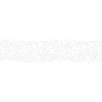 Karen Foster Design - Pavilio Lace Tape - Botanical Ornament - White - 70 mm