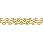 Karen Foster Design - Pavilio Lace Tape - Star - Gold - 47 mm