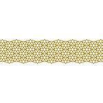 Karen Foster Design - Pavilio Lace Tape - Star - Gold - 70 mm