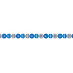 Karen Foster Design - Pavilio Lace Tape - Mini - Snow Flower - Blue