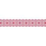Karen Foster Design - Pavilio Lace Tape - Bubble - Red - 47 mm