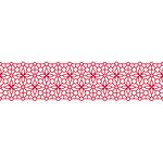 Karen Foster Design - Pavilio Lace Tape - Bubble - Red - 70 mm