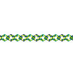 Karen Foster Design - Pavilio Lace Tape - Crystal - Green