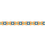 Karen Foster Design - Pavilio Lace Tape - Arabesque - Orange