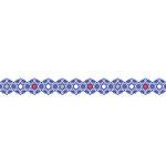 Karen Foster Design - Pavilio Lace Tape - Asanoha - Blue